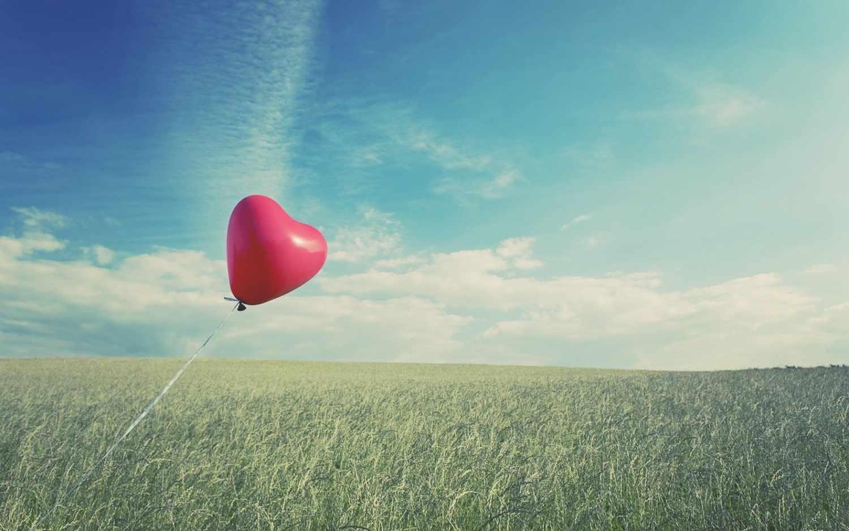 Zwevend hart ballon