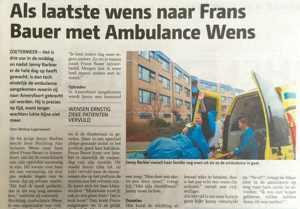ambulance wens frans bauer uitvaart zoetermeer