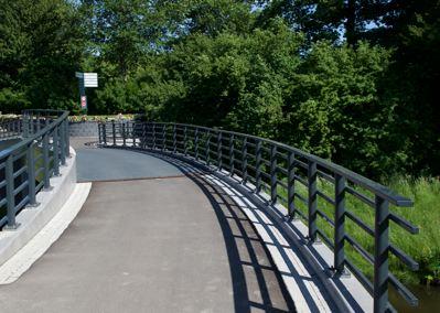 nieuwe brug begraafplaats hoflaan en crematorium meerbloemhof