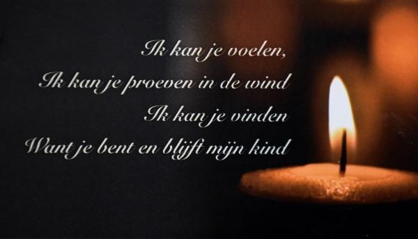 Wereldlichtjesdag Zoetermeer 2017 gedicht