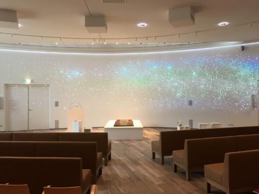 sterrenhemel aula crematorium meerbloemhof
