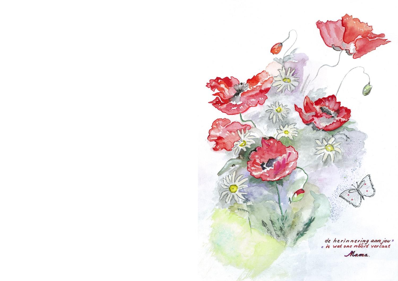 Eljo Veldman rouwkaart voorkant