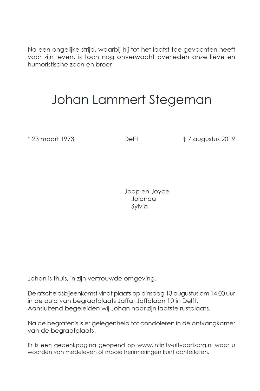Johan Lammert Stegeman